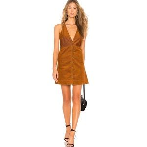 NWT Free People Rolling Thunder Corduroy Dress